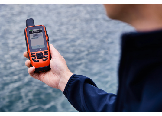 "The GPSMAP 86i is a stand-alone backup navigation device that also serves as an extension to the marine system with wireless connectivity. The 3"" display is easy to read even in sunlight and provides a better overview and additional practical functions, such as satellite communication for interactive SOS emergency calls. Delivery includes free travel charger and bag. (Image 13 of 14)"
