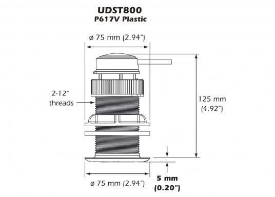Der Durchbruchgeber UDST800 von Airmar liefert zuverlässig und präzise Tiefen-, Geschwindigkeits- sowie Temperaturdaten und überzeugt mit leistungsstarken Ultraschall-Sensoren, mit denen keine beweglichen Teile mehr benötigt werden. Dementsprechend ist der Geber zusätzlich äußerst wartungsarm. Geeignet für Motor- und Segelboote aller Arten und Größen. (Bild 2 von 2)