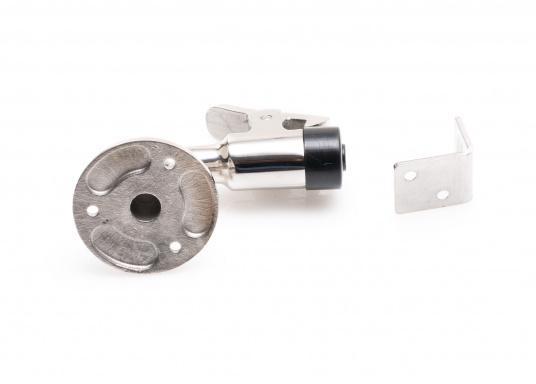 Gewinkelter Türstopper(90°) aus robustem und rostfreiem Edelstahl (V4A). (Bild 2 von 3)