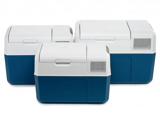 Gardez la nourriture et les boissons facilement, rapidement et sûrement disponibles avec cette glacière à compresseur compacte MCF60. Le turbo-compresseur efficace et silencieux peut gérer des températures de -10° à +10°, réglables sur un panneau de commande digital. Volume net : 58litres. (Image 8 de 9)