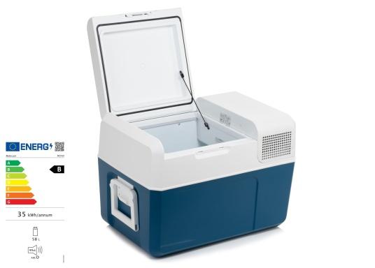 Gardez la nourriture et les boissons facilement, rapidement et sûrement disponibles avec cette glacière à compresseur compacte MCF60. Le turbo-compresseur efficace et silencieux peut gérer des températures de -10° à +10°, réglables sur un panneau de commande digital. Volume net : 58litres.