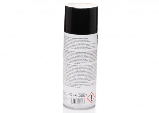 Das Teak Öl-Spray Golden Klassik sorgt für langanhaltenden Schutz behandelter Teakflächen und ist bestens geeignet für das schnelle Ölen und Versiegeln zwischendurch. (Bild 3 von 3)