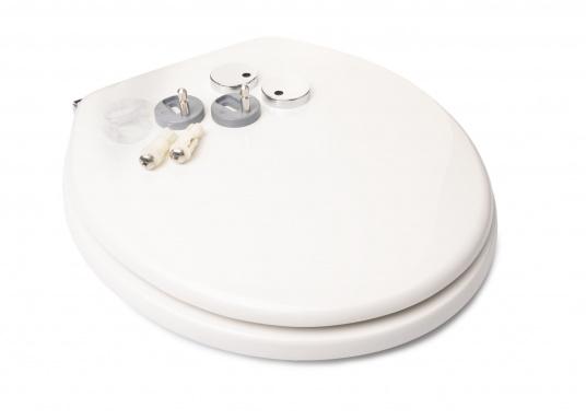 Originaler und passender Ersatzdeckel inkl. Soft Close-Funktion für Toiletten von Sanimarin. (Bild 4 von 4)