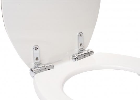 Originaler und passender Ersatzdeckel inkl. Soft Close-Funktion für Toiletten von Sanimarin. (Bild 3 von 4)