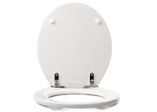 Originaler und passender Ersatzdeckel inkl. Soft Close-Funktion für Toiletten von Sanimarin. (Bild 2 von 4)