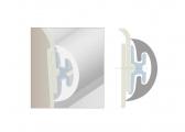 RADIAL30 Rubber Profile / cream white