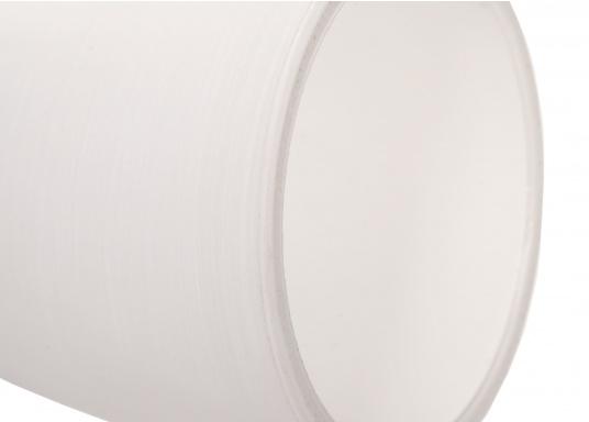 """Die hochwertige LED-Wandleuchte R1-1 von PREBIT überzeugt mit hellem und angenehm, warmweißen Licht sowie integrierter Dimmfunktion """"Dim2Warm"""" und Memoryfunktion. Farbe: chrom-matt mit kreideweißem Glas. (Bild 5 von 5)"""