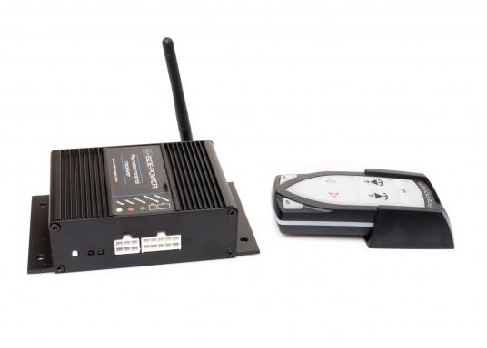 Telecomando adatto a tutti i sistemi Side-Power con controllo a 4 fili realizzati dall'anno 2000. Completo di stazione base. (1 trasmettitore, 1 ricevitore). Connettore pronto per il collegamento (Plug and play). (Immagine 3 di 4)