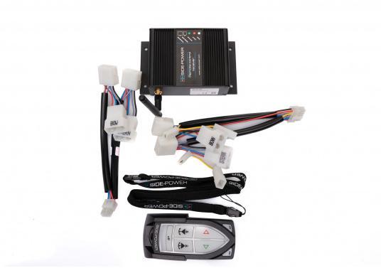 Telecomando adatto a tutti i sistemi Side-Power con controllo a 4 fili realizzati dall'anno 2000. Completo di stazione base. (1 trasmettitore, 1 ricevitore). Connettore pronto per il collegamento (Plug and play). (Immagine 4 di 4)