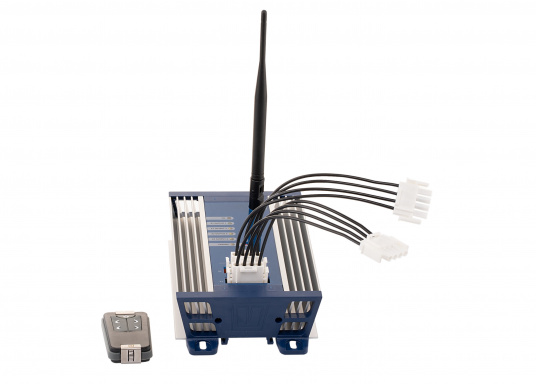 VETUS 4-Kanal-Funkfernbedienung 12/24V inkl. Empfängerbox und Funk-Handfernbedienung.