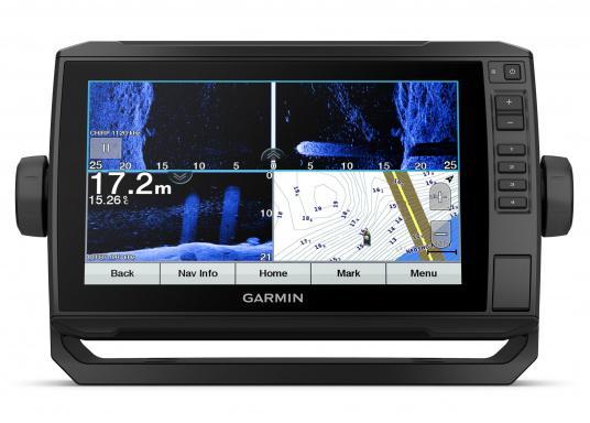 """Der Kartenplotter ECHOMAP 92sv UHD ist auch bei Sonneneinstrahlung gut lesbar. Ausgestattet mit einem 9"""" Touchscreen und einem Haltebügel mit Schnellentriegelung. (Bild 3 von 8)"""