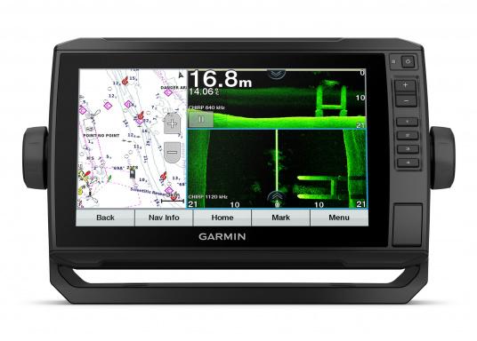 """Der Kartenplotter ECHOMAP 92sv UHD ist auch bei Sonneneinstrahlung gut lesbar. Ausgestattet mit einem 9"""" Touchscreen und einem Haltebügel mit Schnellentriegelung. (Bild 2 von 8)"""