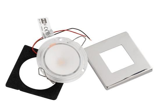 Die LED-EinbauleuchteTHABIT Q inklusive Touchschalterist dank ihrem modernen Design ein richtiger Hingucker. Sie sieht nicht nur schick aus, sondern erzeugt auch mit ihrer warmweißen Lichtfarbe eine angenehme Atmosphäre. Ebenfalls bietet diese spezielle Leuchte eine einfache Montage sowie ein robustes Gehäuse aus Edelstahl. (Bild 5 von 5)