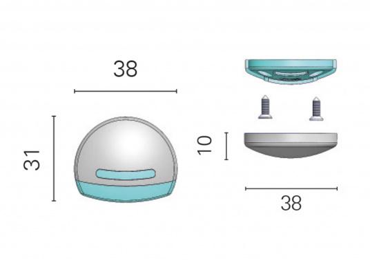 Die LED-Aufbauleuchte ELETRA T ist dank des modernen Designs ein richtiger Hingucker. Sie sieht nicht nur schick aus, sondern erzeugt auch mit ihrer warmweißen Lichtfarbe eine angenehme Atmosphäre. Ebenfalls bietet diese spezielle Leuchte eine einfache Montage sowie ein robustes Gehäuse aus verchromtem Kunststoff. (Bild 3 von 3)