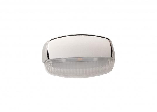 Die LED-Aufbauleuchte ENIF ist dank des modernen Designs ein richtiger Hingucker. Sie sieht nicht nur schick aus, sondern erzeugt auch mit ihrer warmweißen Lichtfarbe eine angenehme Atmosphäre. Ebenfalls bietet diese spezielle Leuchte eine einfache Montage, sowie ein robustes Gehäuse aus verchromtem Messing.