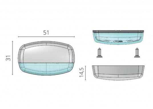 Die LED-Aufbauleuchte ENIF ist dank des modernen Designs ein richtiger Hingucker. Sie sieht nicht nur schick aus, sondern erzeugt auch mit ihrer warmweißen Lichtfarbe eine angenehme Atmosphäre. Ebenfalls bietet diese spezielle Leuchte eine einfache Montage, sowie ein robustes Gehäuse aus verchromtem Messing. (Bild 3 von 3)