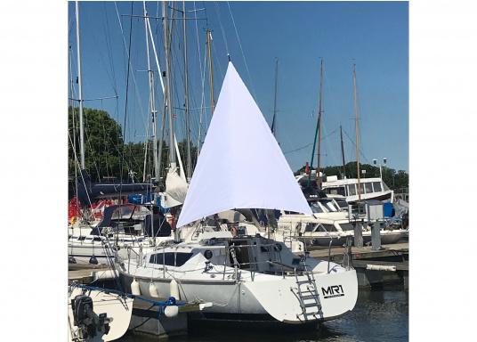 Das UV-beständige und wasserabweisende Sonnensegel schützt Sie zuverlässig vor Regen und Sonneinstrahlungen. Abmessungen:336 x 336 x 290 cm. Form: Dreieck.