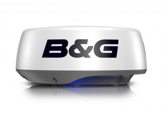 """Das Pulskompressionsradar HALO20+ von B&G identifiziert mithilfe der innovativen VelocityTrack-Doppler-Technologie sofort Gefahren auf kleiner und großer Distanz. Dank der unschlagbaren Rotation von bis zu 60 U/min bietet die 20"""" Radarantenne eine nahezu Echtzeitansicht und ermöglicht Ihnen die ultimative Kollisionsvermeidung.Lieferung inklusive 20 m Radarkabel."""