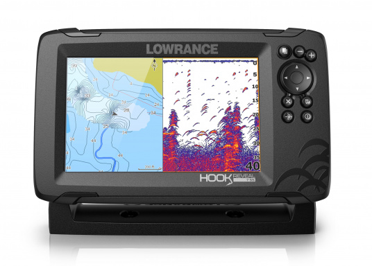 The HOOK Reveal combines the renowned functions of the HOOK series with the latest innovation: FishReveal technology. It features an integrated chart plotter, outstanding target identification, high-resolution images of seabed details and a unique price/performance ratio. This ensures the ultimate view of everything below the waterline. Ideal for recreational and occasional anglers. (Image 4 of 7)