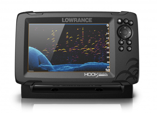 The HOOK Reveal combines the renowned functions of the HOOK series with the latest innovation: FishReveal technology. It features an integrated chart plotter, outstanding target identification, high-resolution images of seabed details and a unique price/performance ratio. This ensures the ultimate view of everything below the waterline. Ideal for recreational and occasional anglers. (Image 3 of 7)