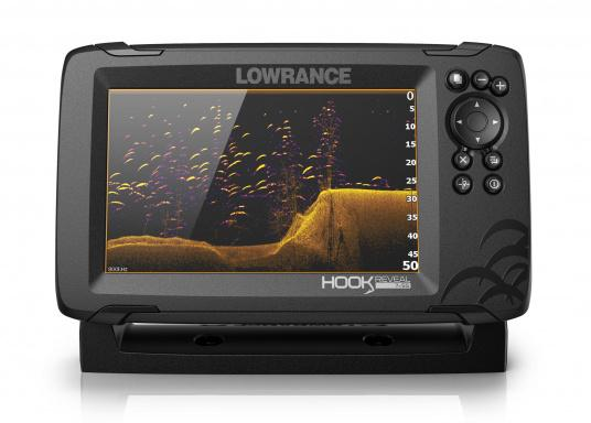 The HOOK Reveal combines the renowned functions of the HOOK series with the latest innovation: FishReveal technology. It features an integrated chart plotter, outstanding target identification, high-resolution images of seabed details and a unique price/performance ratio. This ensures the ultimate view of everything below the waterline. Ideal for recreational and occasional anglers. (Image 5 of 7)