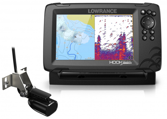 The HOOK Reveal combines the renowned functions of the HOOK series with the latest innovation: FishReveal technology. It features an integrated chart plotter, outstanding target identification, high-resolution images of seabed details and a unique price/performance ratio. This ensures the ultimate view of everything below the waterline. Ideal for recreational and occasional anglers.