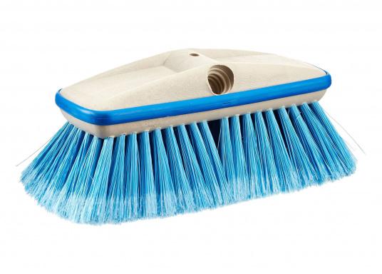 Mittelfeste Decksbürste zur Reinigung all Ihrer schmutzigen Oberflächen an Bord. Ihre Oberflächen werden dank eines Gummipuffers vor Kratzer und Beschädigungen geschützt.
