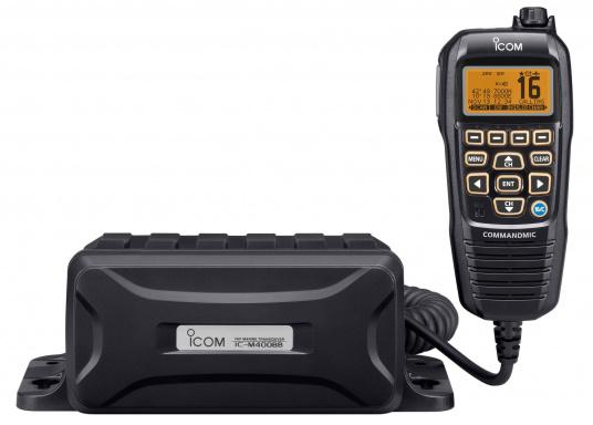 Black Box Transceiver - wenn es auf den Platz ankommt. Das UKW-Marinefunkgerät IC-M400BBE ist eine äußerst platzsparende Lösung, da sämtliche Funktionen über das mitgelieferte Handbedienteilgesteuert werden. Im Lieferumfang ist eine externe GPS-Antenne enthalten. (Bild 2 von 5)