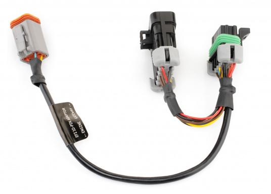 With this Y-cable you can connect your EFI engine (MEFI4B ECU or later petrol models 2004/2005 with or without EVC) with the interface YDEG-04 from Yacht Devices. (Imagen 2 de 2)