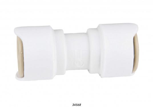 Verbinder fürs Connect Rohrleitungssystem. Besonders zuverlässiges Rohrleitungssystem, speziell geeignet für den Einsatz an Bord! Schnelle Installation: Dank vorgegebener Schnittmarken ist ein Ablängen der Rohre ganz einfach möglich.  (Bild 2 von 3)