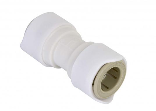 Verbinder fürs Connect Rohrleitungssystem. Besonders zuverlässiges Rohrleitungssystem, speziell geeignet für den Einsatz an Bord! Schnelle Installation: Dank vorgegebener Schnittmarken ist ein Ablängen der Rohre ganz einfach möglich.