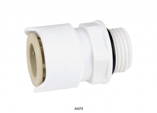 """Adapter fürs Connect Rohrleitungssystem auf 1/2"""" außen. Besonders zuverlässiges Rohrleitungssystem, speziell geeignet für den Einsatz an Bord! Schnelle Installation: Dank vorgegebener Schnittmarken ist ein Ablängen der Rohre ganz einfach möglich."""