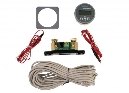 Der hochpräzise Batteriewächter stellt alle wichtigen Bordnetz-Daten, wie Spannung, Strom, Leistung, Ladezustand, Restlaufzeit/Temp. der Verbraucherbatterie sowie die Spannung der Starterbatterie/Mittelpunktsspannung bei einer 24V Batterie-Reihenschaltung dar. Das integrierte Bluetooth in Verbindung mit der VictronConnect App (iOS/Android) ermöglicht Ihnen die Einstellungen bzw. Darstellung der Daten auf dem Smartphone. (Bild 6 von 6)