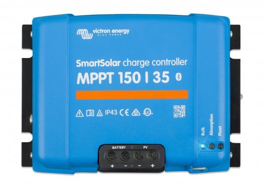Mit dem Solar-Laderegler SmartSolar MPPT gewinnen Sie auch bei wechselhaftem Wetter die bestmögliche Energie. Er stellt sicher, dass sämtliche Energien aus den Modulen entnommen sowie gespeichert werden und wandelt die Energie auf intelligente Weise um, so dass Ihre Batterie in kürzester Zeit geladen werden. (Bild 4 von 5)