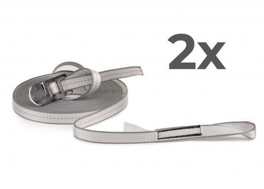Jackstay made of sturdy, abrasion-resistant polyester webbing with a width of 25mm and length 12m. Secure yourself to the jackstay with a lifeline and move safely and freely on board. Also ideal for securing children. Delivery includes: Two jackstays with length 12m. (Image 1 of 7)