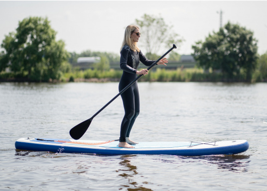 Top model in the middle range featuring an exclusive design. The iSUP 89 from SEATEC is great fun for young and old, beginners and advanced users. Length: 3.3 m, width: 75 cm. Load capacity: approx. 140 kg. (Image 15 of 18)