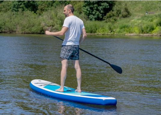 Top model in the middle range featuring an exclusive design. The iSUP 89 from SEATEC is great fun for young and old, beginners and advanced users. Length: 3.3 m, width: 75 cm. Load capacity: approx. 140 kg. (Image 14 of 18)