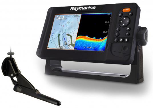 """Smartes 7""""-Multifunktionsdisplay mit, integrierter GPS-Antenne und eingebauten Sonarmodul.Auf einen Touchscreen wurde bei diesem Raymarine Plotter bewusst verzichtet, da die klassische Tastenbedienung in Verbindung mit der Raymarine LightHouse Sport Oberfläche auch bei schnellen Fahrten und starken Seegang für eine intuitive und präzise Bedienung des Gerätes sorgt.Dank des CPT-100 DVS Gebers finden Sie mittels der DownVision und CHIRP Ansicht im Handumdrehen."""