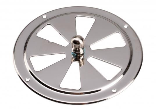 Korrosionsbeständige Lüftungsrosette aus Edelstahl mit einem Durchmesser von 125 mm. (Bild 4 von 7)