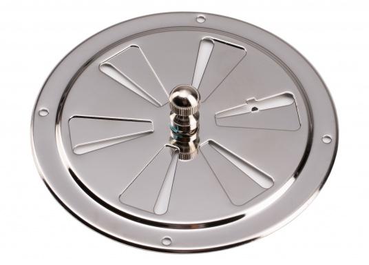 Korrosionsbeständige Lüftungsrosette aus Edelstahl mit einem Durchmesser von 125 mm. (Bild 5 von 7)