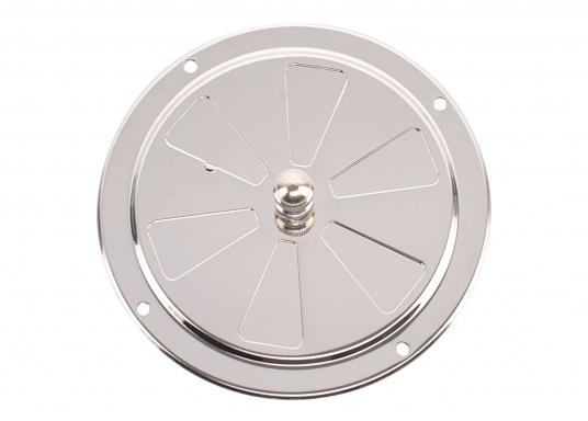 Korrosionsbeständige Lüftungsrosette aus Edelstahl mit einem Durchmesser von 125 mm. (Bild 3 von 7)