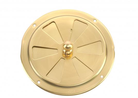 Qualitative Lüftungsrosette aus Messing, poliert mit einem Durchmesser von 125 mm. (Bild 2 von 3)