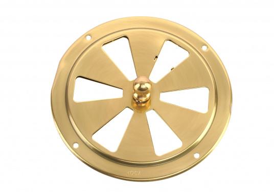 Qualitative Lüftungsrosette aus Messing, poliert mit einem Durchmesser von 125 mm.