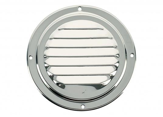 Korrosionsbeständiges Lüftungsblech aus Edelstahl mit einem Durchmesser von 125 mm.