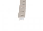 Rail en T pour avale-tout / taille 2 / 25 x 4 mm