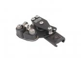 End Fitting with double Sheaves and Cleat for Pfeiffer Marine X-Track / left / size 3