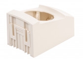 ​INTEGRO FLOW Box Assembly Set with Integrated On/Off Switch / polar white, glossy