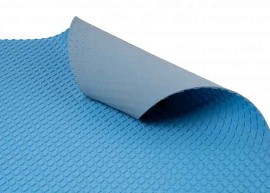 Hochwertiger Antirutsch-Belag, hergestellt aus einem Gummi- / Kork-Verbundwerkstoff.Farbe: hellblau. (Bild 4 von 4)