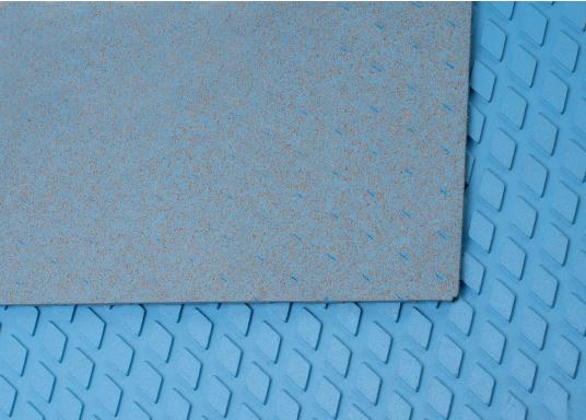 Hochwertiger Antirutsch-Belag, hergestellt aus einem Gummi- / Kork-Verbundwerkstoff.Farbe: hellblau. (Bild 3 von 4)