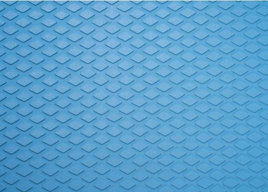 Hochwertiger Antirutsch-Belag, hergestellt aus einem Gummi- / Kork-Verbundwerkstoff.Farbe: hellblau.